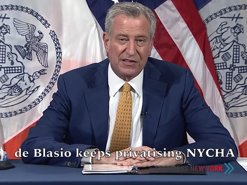 Bill de Blasio continues with RAD/PACT conversion of NYCHA public housing.